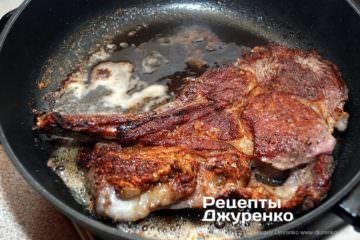 Как приготовить Антрекот из говядины. Шаг 6: жареное мясо
