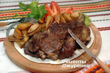Фото к рецепту: антрекот из говядины