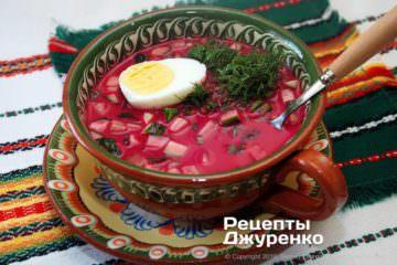 Фото рецепта холодный борщ, холодник