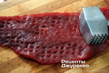 Как приготовить Лангет натуральный. Шаг 4: отбитая говядина