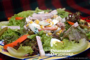 Фото к рецепту: салат с бужениной