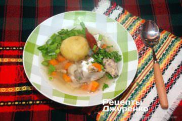 Фото рецепта рибний суп з консерви