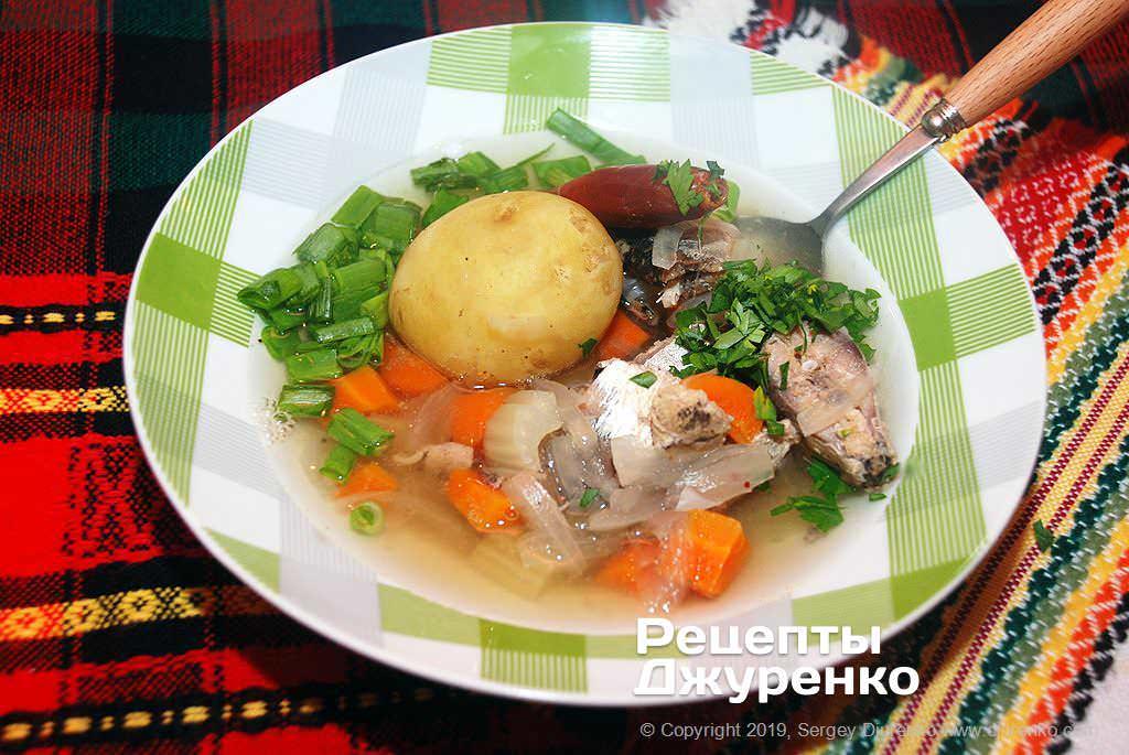 Фото готового рецепту рибний суп з консерви в домашніх умовах