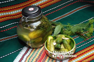 Фото рецепта малосольні огірки