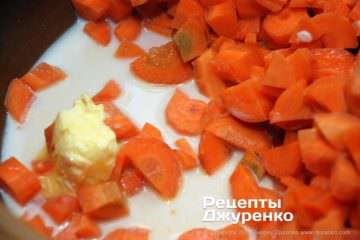 Шаг 2: отварить морковку до готовности