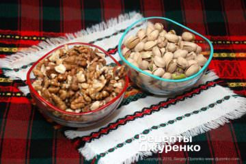 Шаг 1: орехи и фисташки