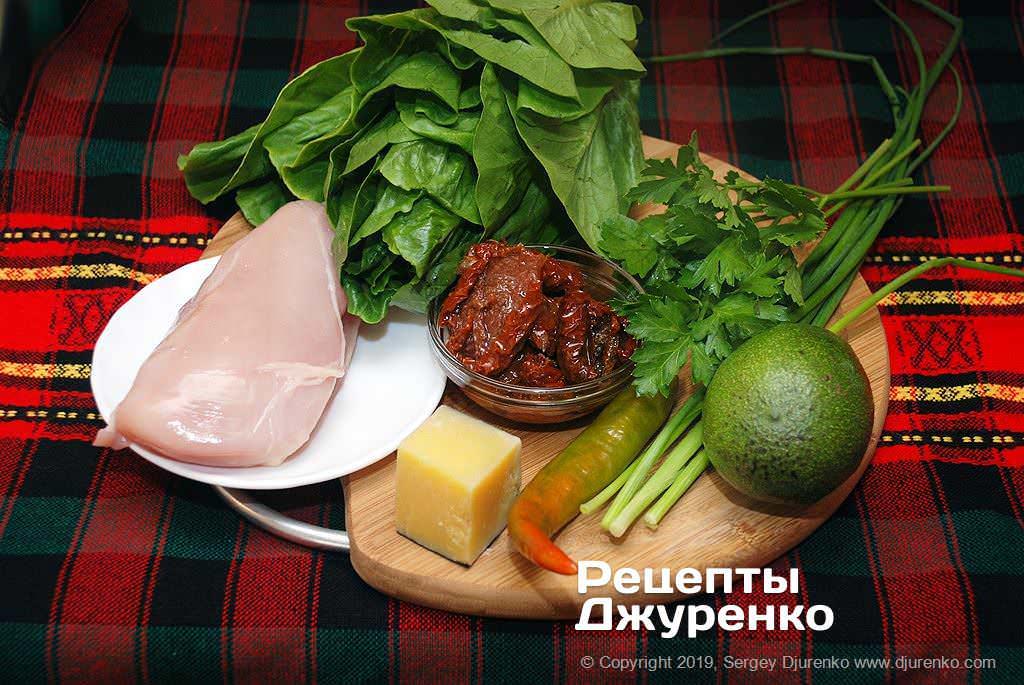 Ингредиенты для салата.