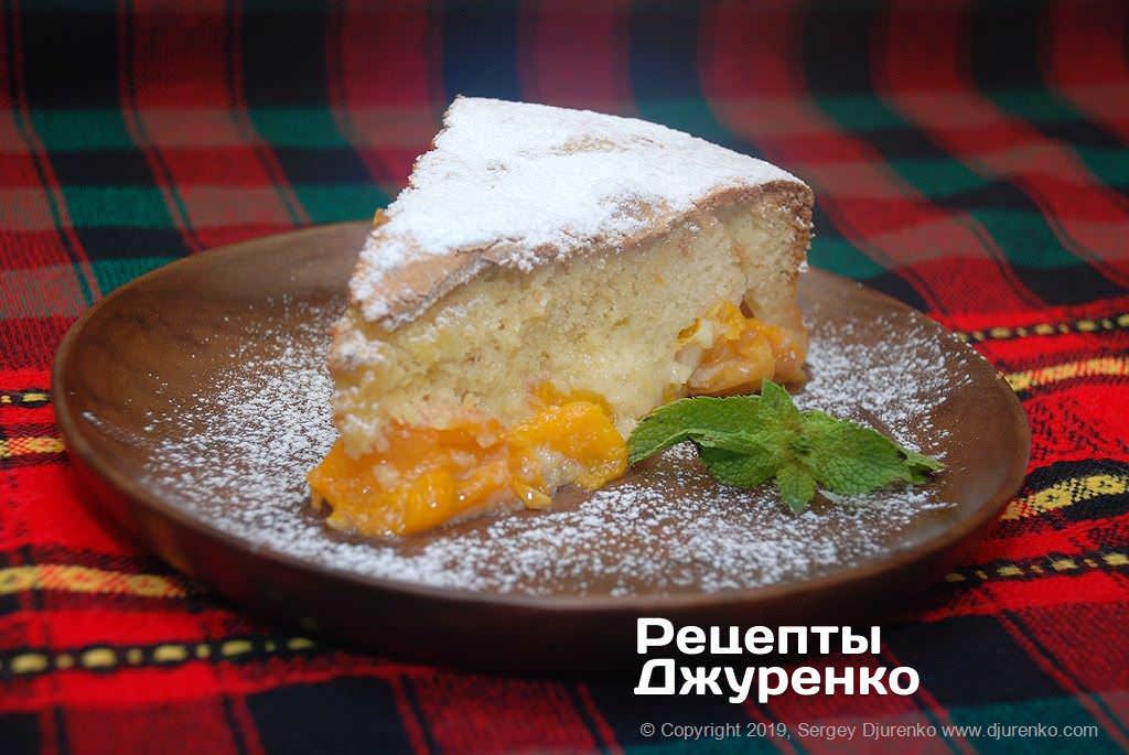 шарлотка з абрикосами фото рецепту