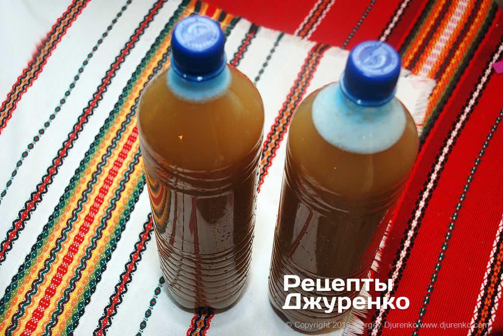Розлити по пляшках і поставити на холод.
