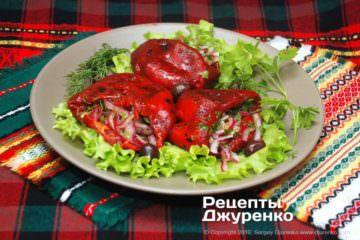 Фото рецепта печений перець