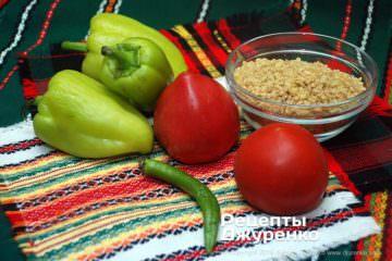 Шаг 1: булгур и овощи