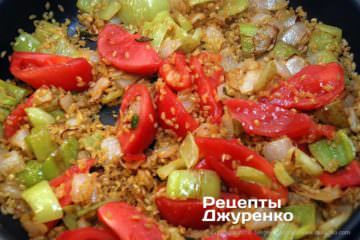 Шаг 6: булгур с томатами