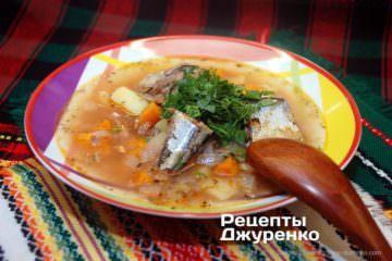 Фото до рецепту: суп з сайри