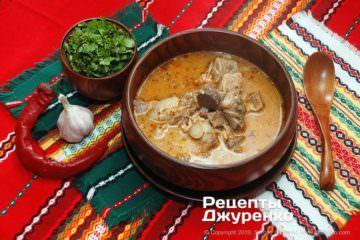 Фото рецепта суп на говяжьем бульоне