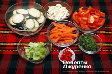 Крок 2: нарізка овочів