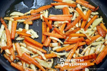 Крок 3: смажена морквина і пастернак