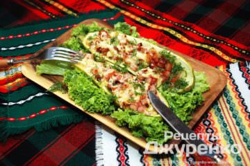 Фото рецепта кабачки з м'ясом