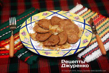 Фото рецепта печеночные оладьи