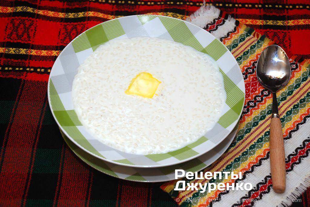 рисова каша на молоці