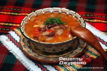 суп из красной фасоли фото рецепта