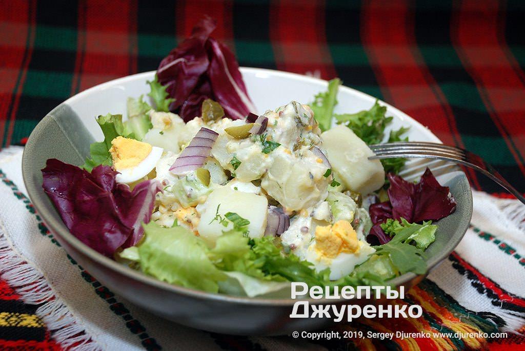 картофельный салат фото рецепта