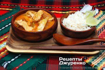 Фото рецепта соус карри для курицы