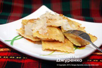 Фото рецепта равиоли с тыквой