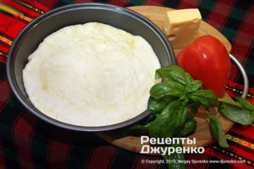 Фото рецепта бездрожжевое тесто для пиццы