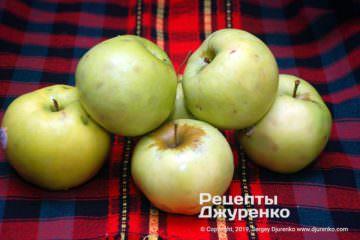 Шаг 1: зеленые яблоки