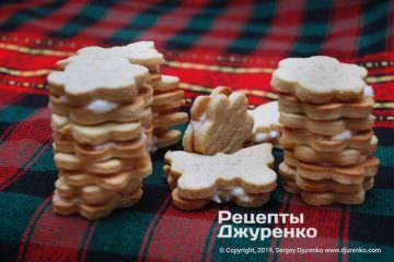 Фото рецепта лимонное печенье с начинкой