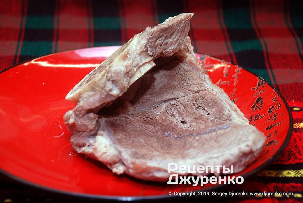 Зварене м'ясо.