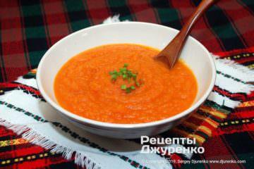 Фото рецепта морквяний суп