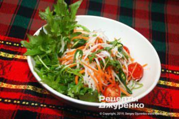 Фото рецепта салат из дайкона