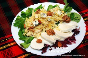 Готовое блюдо салат с сыром