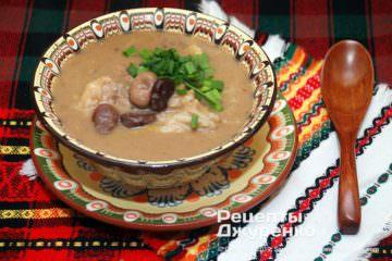 Фото рецепта суп з бобів
