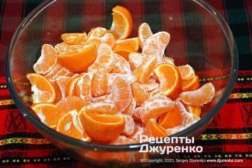 Шаг 1: дольки фруктов