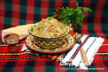 Фото рецепта бігус з квашеної капусти