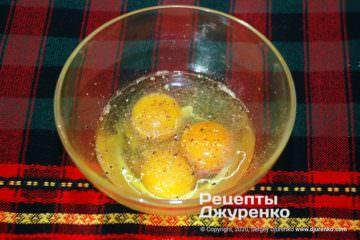 Шаг 1: подготовка смеси яиц
