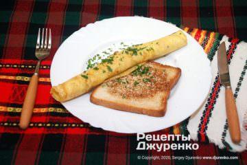 Готовое блюдо омлет