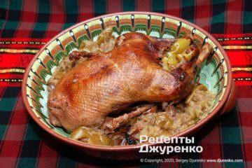 Фото рецепта утка с яблоками