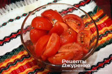 Крок 2: помідори з олією