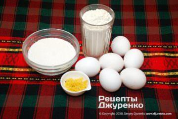 Шаг 1: ингредиенты для бисквитного теста