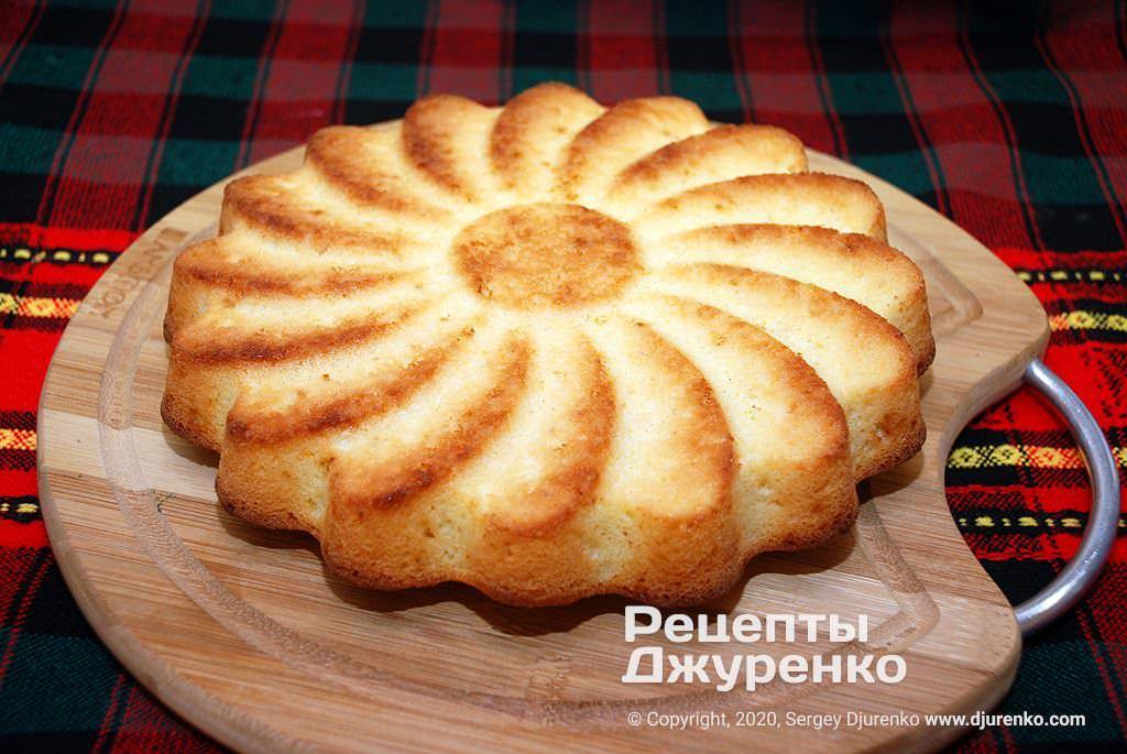 Готовый пирог.