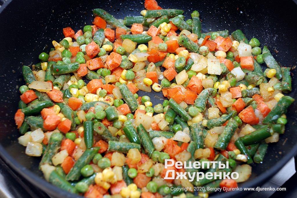 Овощи для гарнира.