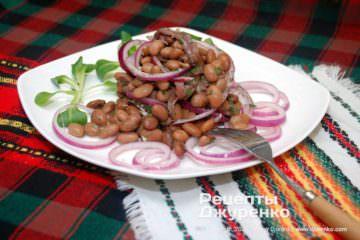 Фото рецепта салат з квасолі