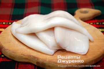 Шаг 1: тушки кальмаров