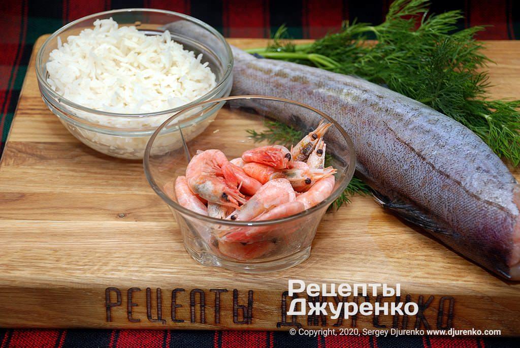 Інгредієнти рибного фаршу.