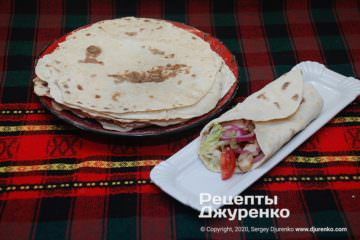 Фото рецепта домашняя пита на сковороде