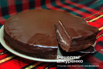 Фото рецепта шоколадный торт
