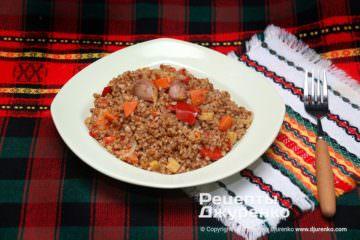 Фото рецепта гречка з овочами